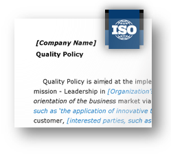 iso 90012015 quality policy